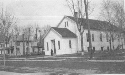 The first Prairie Street Mennonite Church building.