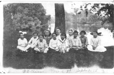 Sunday school picnic, September 1, 1915, Edna Grosh, teacher.