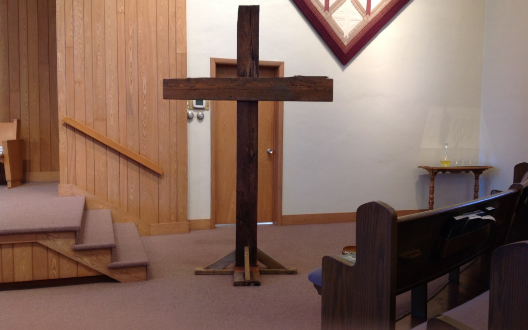Cross at the front of the sanctuary